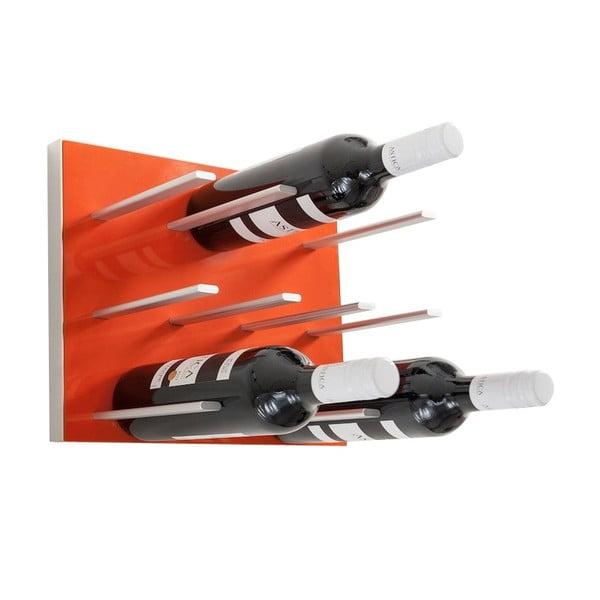 Nástenný stojan na víno STACT, oranžový