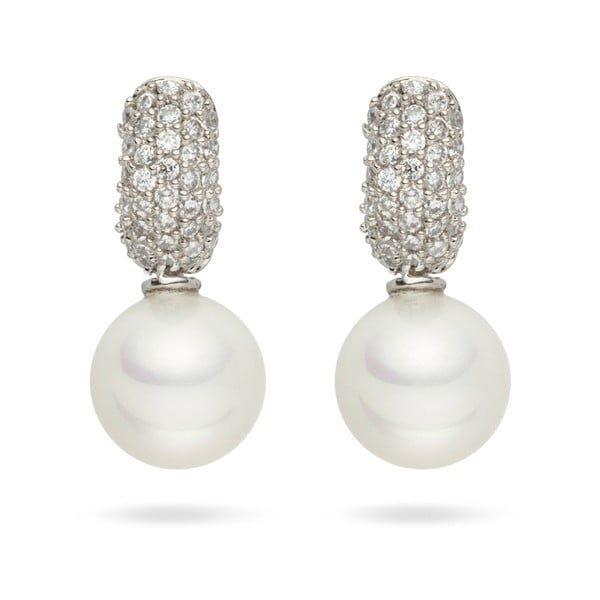 Perlové náušnice Nova Pearls Copenhagen Helene White