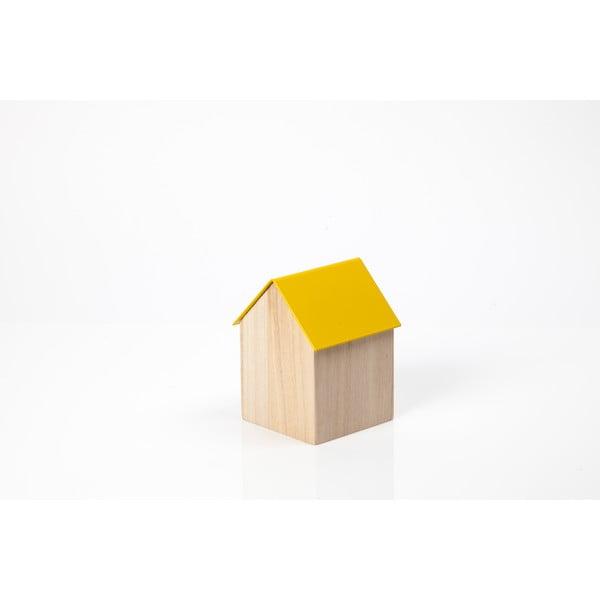 Žltý úložný box House Small