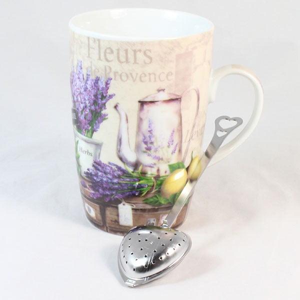 Hrnček s čajovým sitkom Fleur de Provence