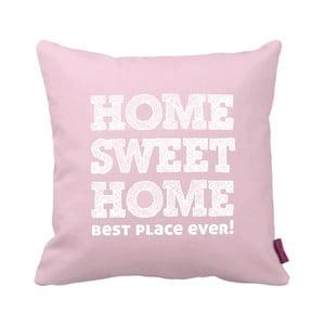 Ružovo-biely vankúš Home Pink, 43×43cm