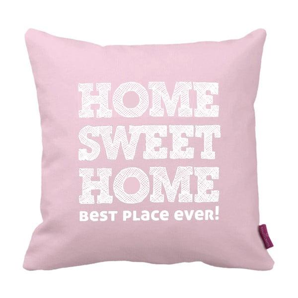 Ružovo-biely vankúš Homemania Home Pink, 43×43 cm
