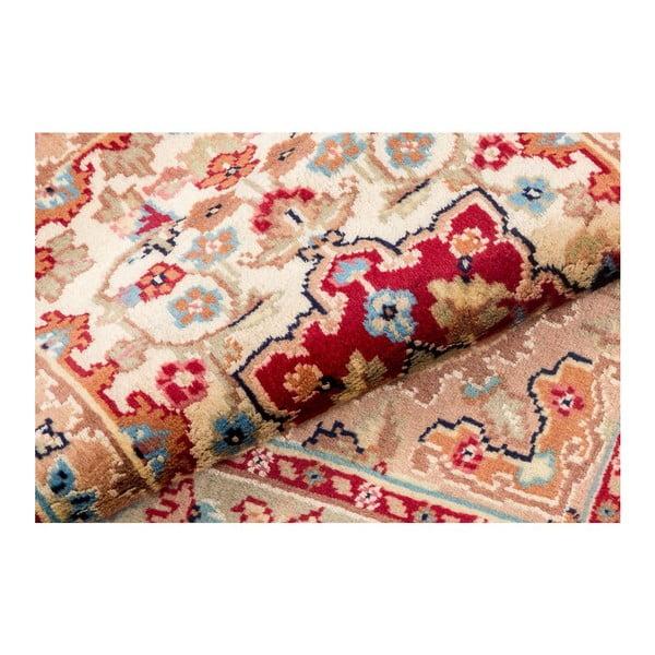 Ručne viazaný koberec Kashmirian, 92x63 cm