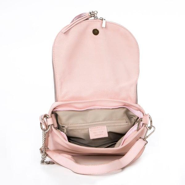 Kožená kabelka Paolo, pudrová