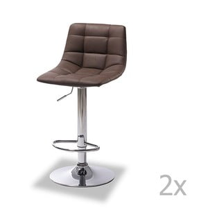 Sada 2 barových tmavě hnědých židlí Furnhouse Mario