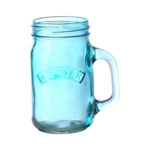 Pohár s rúčkou Kilner 350 ml, modrý