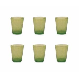 Sada 6 zelených pohárov Villa d´Este Satin