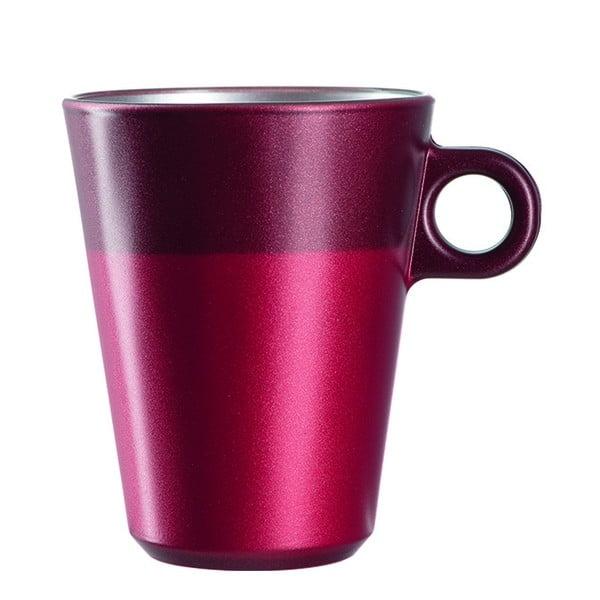 Červený metalický hrnček na macchiato meniaci farbu LEONARDO Ooh! Magico