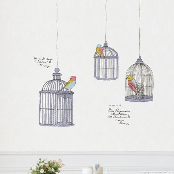 Sada samolepiek Ambiance Birds In Cage