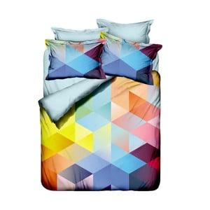 Obliečky z bavlneného saténu s plachtou Cube, 200 x 220 cm