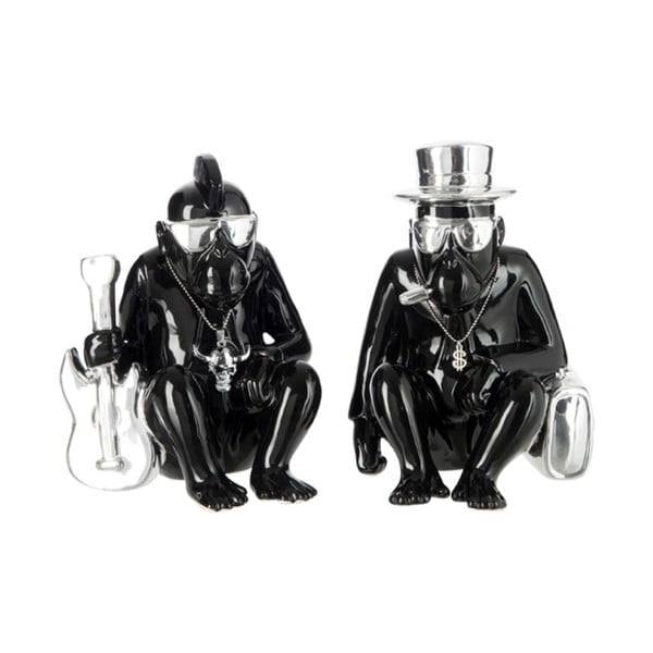 Sada dvoch dekorácií Monkey, čierna