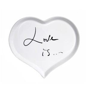 Porcelánový tanier We Love Home Loveis