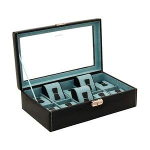 Čierny box na 10 hodiniek Friedrich Lederwaren Bond