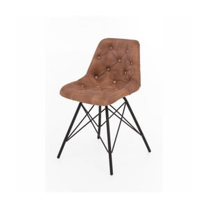 Sada 2 stoličiek s kovovou konštrukciou a koženým poťahom WOOX LIVING