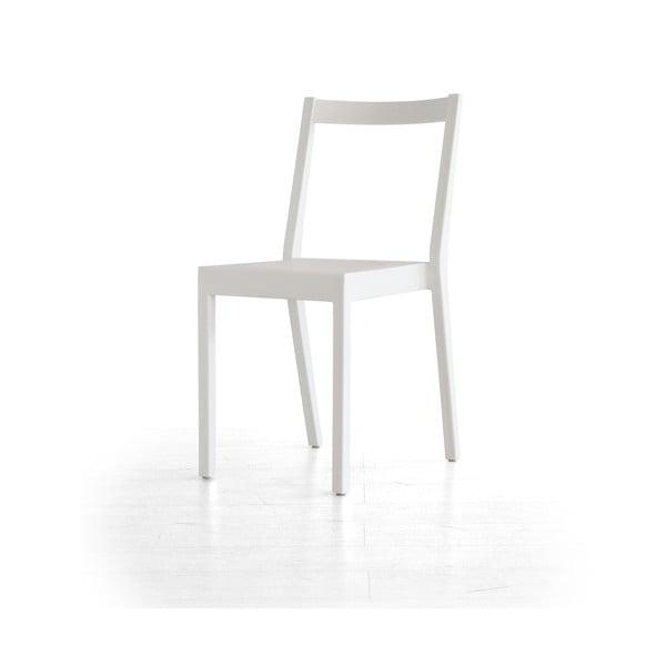 Biela jedálenská stolička Kent