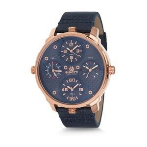 Pánske hodinky s čiernym koženým remienkom Bigotti Milano Alexander