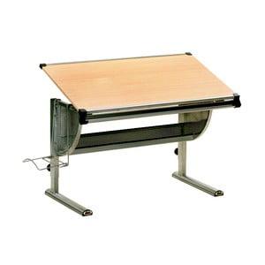 Nastaviteľný písací stôl v dekore dreva 13Casa Paint