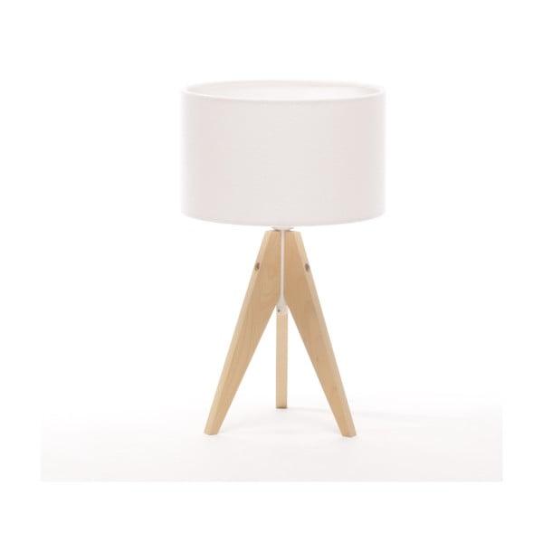 Stolná lampa Artista Natural Birch/White Felt, 28 cm