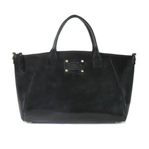 Čierna kožená kabelka O My Bag Fly Violet Maxi
