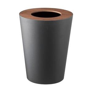 Černý odpadkový koš YAMAZAKI Rin Round