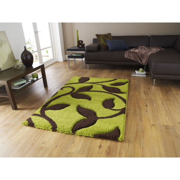 Zeleno-hnedý koberecFashion Green Brown, 160 × 220 cm