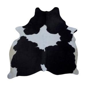 Čierno-biely koberec z hovädzej kože, 186 x 165 cm
