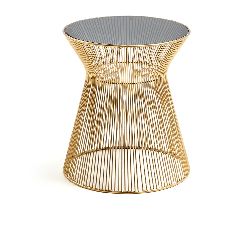 Odkladací stolík v zlatej farbe La Forma Jolene, výška 40 cm