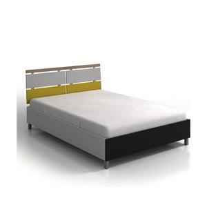 Dvojlôžková posteľ z borovicového a bukového dreva s úložným priestorom SKANDICA Vaxholm, 200 x 200 cm
