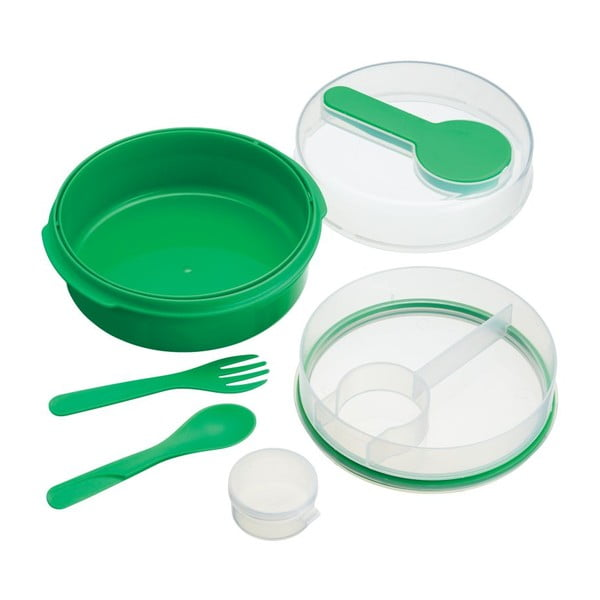Zelený desiatový box Kitchen Craft Coolmovers Round