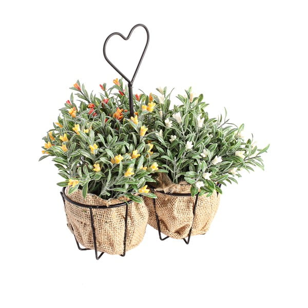 Umelé kvety v stojane Corta