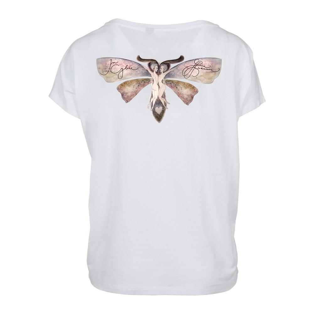 fd58c6c2f881 Dámske biele tričko s motívom Spolu od Lény Brauner   IM Cyber pre KlokArt