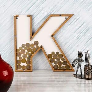 Dekoratívny rámik/pokladnička s plexisklom K