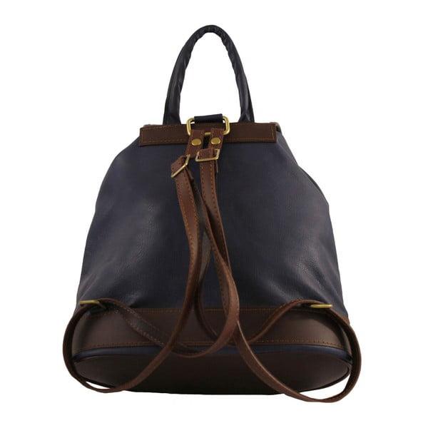 Modrý kožený batoh Becky