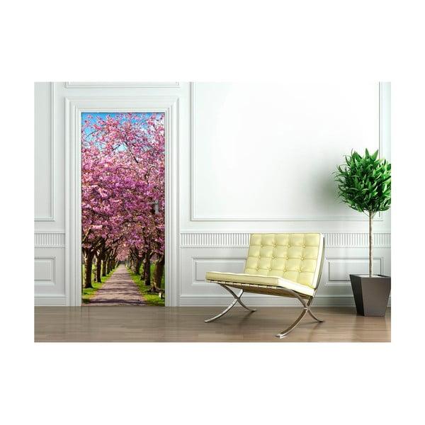 Adhezívna samolepka na dvere Ambiance Blossom Plum Tree