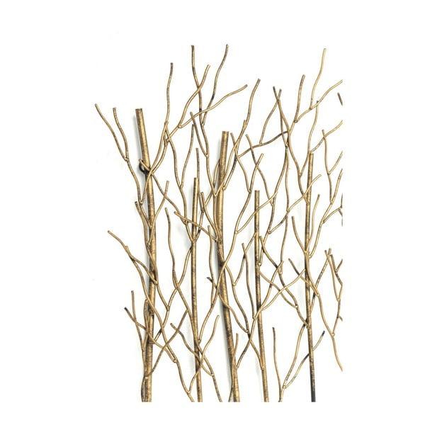 Nástenný vešiak v zlatej farbe Kare Design Bush