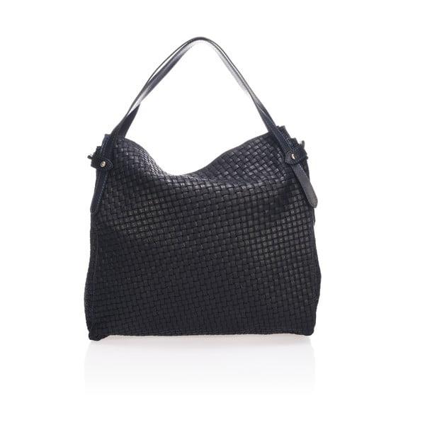 Čierna kožená kabelka Markese Giacinto