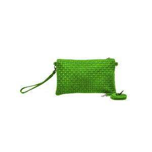 Kožené psaníčko Catarina, zelená