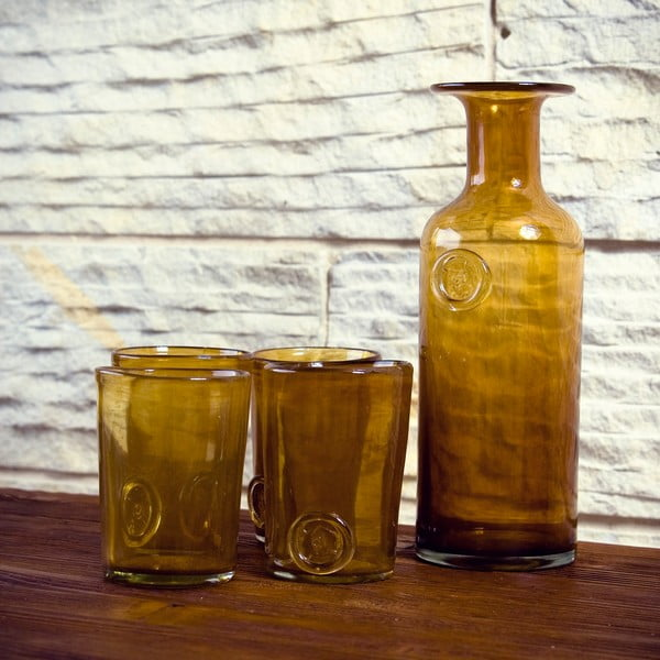 Sklenená karafa/váza Carage, medová