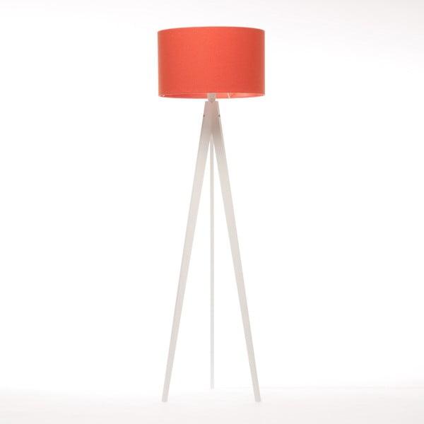 Červená stojacia lampa Artist, biela lakovaná breza, 150 cm