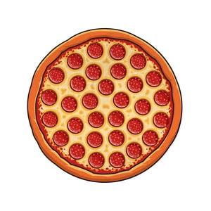 Ø152,4cmPlážová deka v tvare pizze Big Mouth Inc., Ø152,4cm