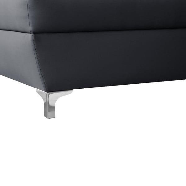 Antracitová pohovka Modernist Cardigan, ľavý roh