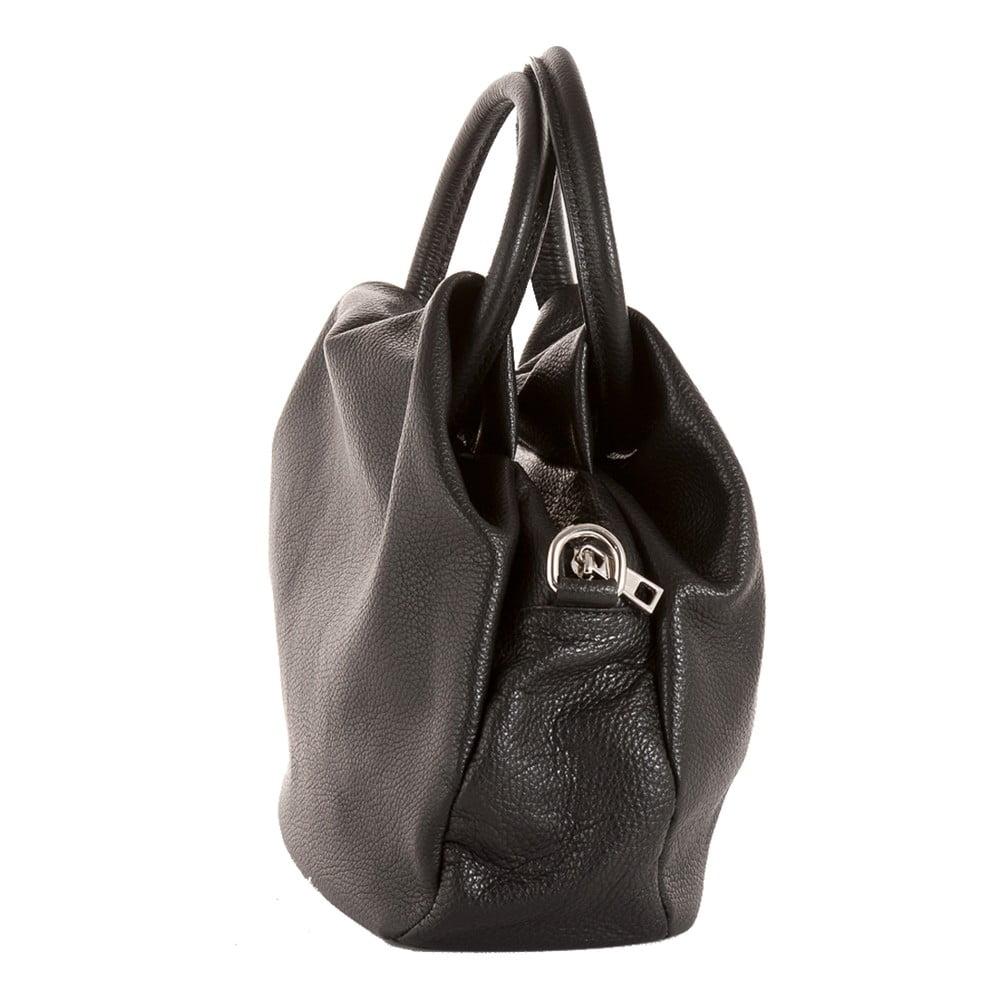 Čierna kabelka z pravej kože Andrea Cardone Dolcezza ... c563ab65a3b