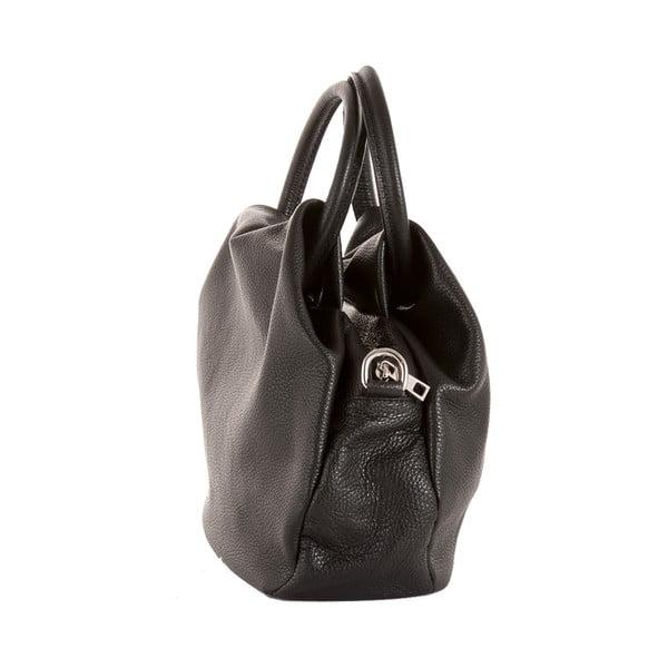 Čierna kabelka z pravej kože Andrea Cardone Dolcezza