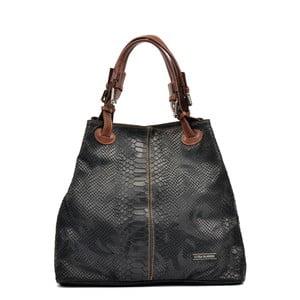 Čierna kožená kabelka Luisa Vannini Grissmo