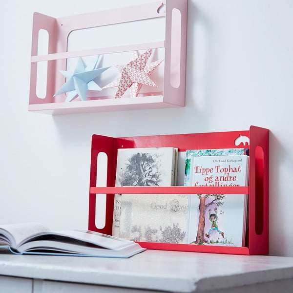Police na knihy Deer, světle ružová