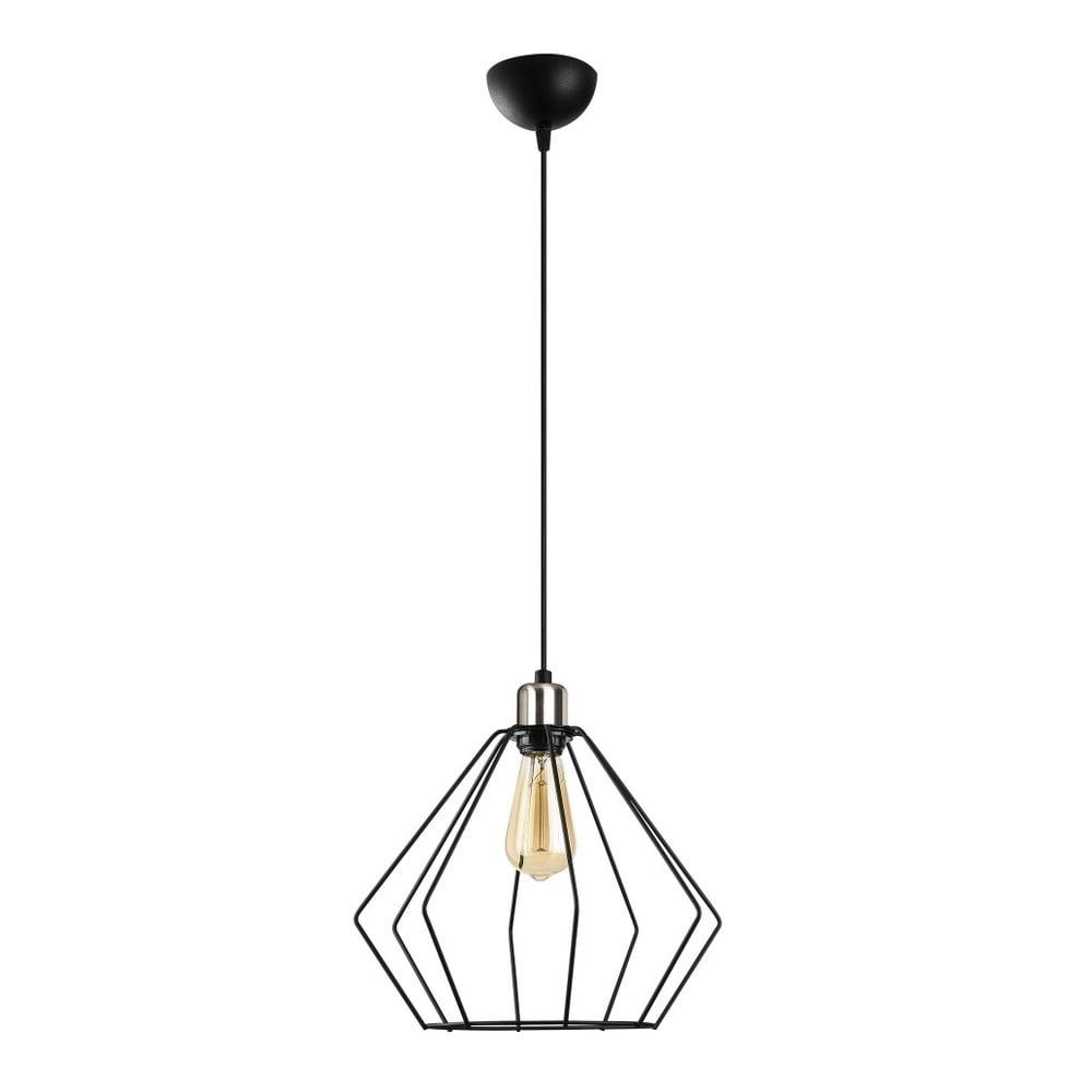 Čierne kovové závesné svietidlo Opviq lights Aristea