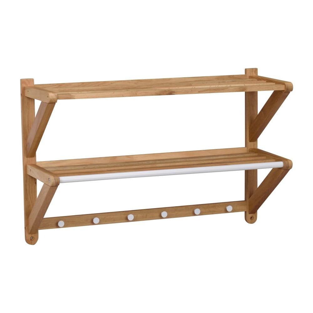 Nástenný vešiak z dubového dreva Rowico Tran