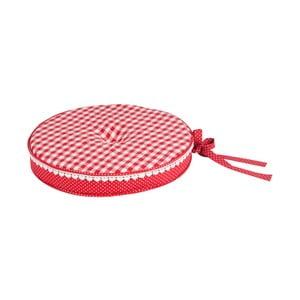 Guľatý podsedák Basic Hearts 40 cm, červený
