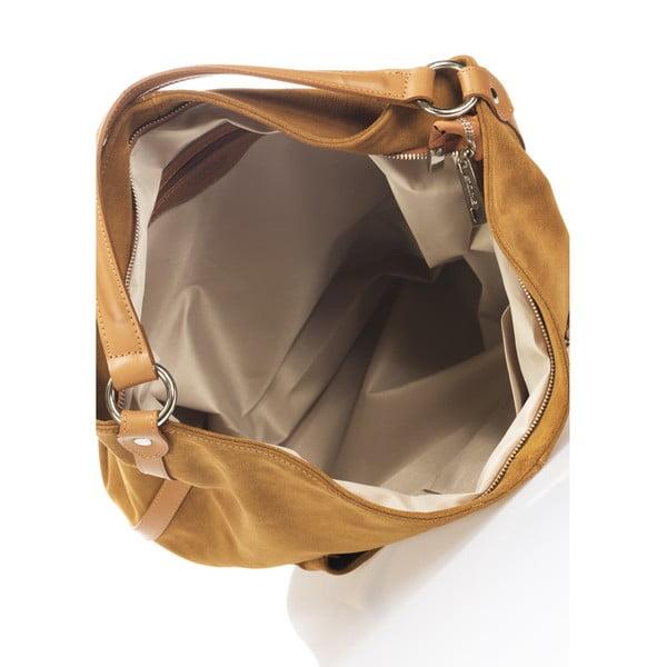 Kožená kabelka Lucinda, koňaková
