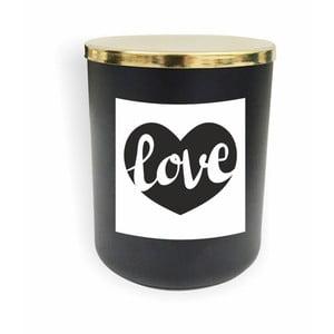 Čierna sviečka North Carolina Scandinavian Home Decors Motto Glass Candle V8